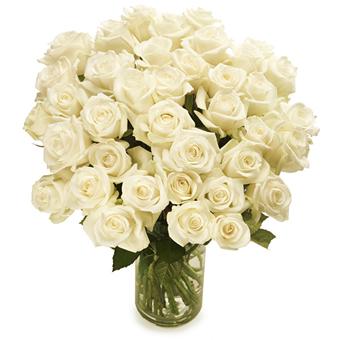 Bos witte rozen bestellen